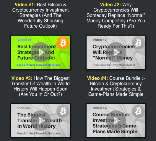 Bitcoin & Cryptocurrency Investments Free Limited-Time Masterclass