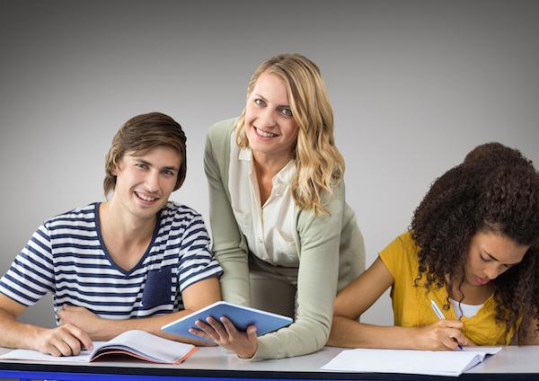 teacher + 2 students