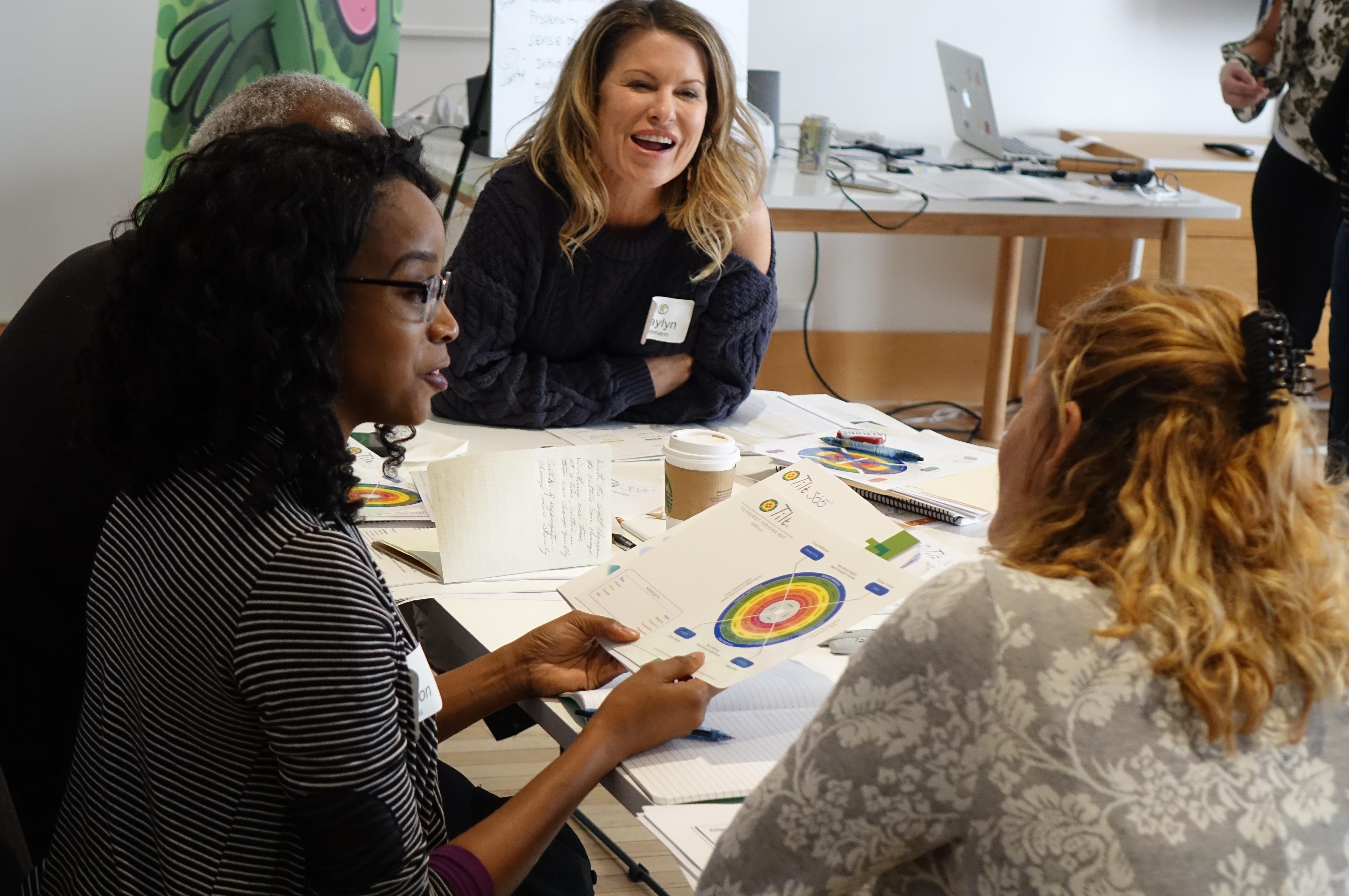 Participants enjoying a Tilt 365 Workshop