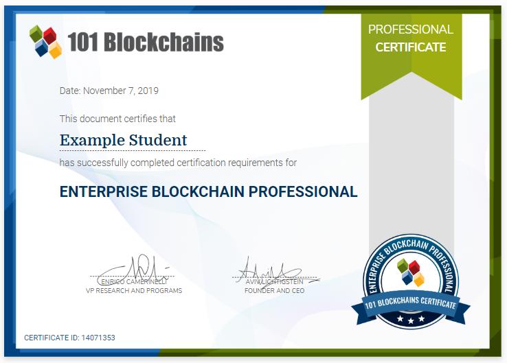 101 Blockchains Certification