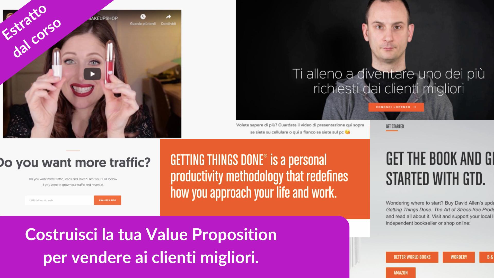 Estratto dal corso su personal branding, costruisci la Value Proposition