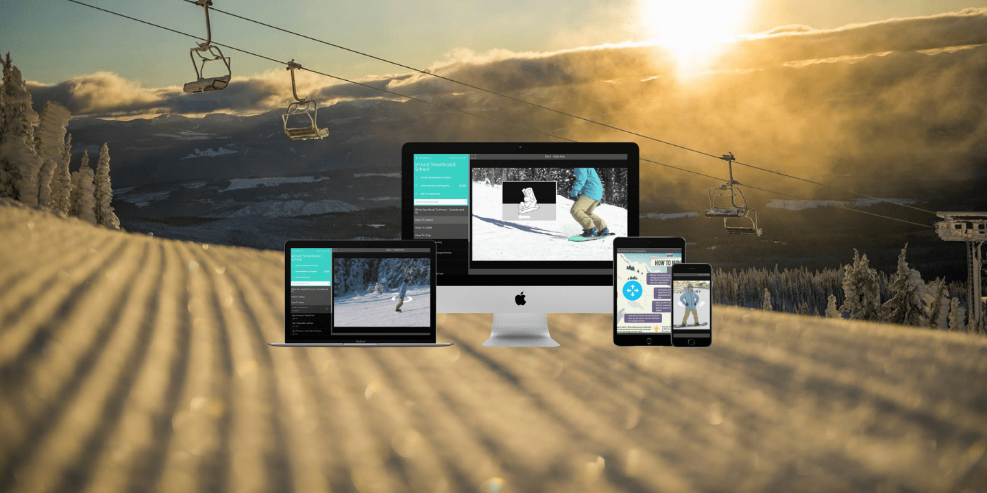 Online snowboard lessons, online snowboard school, learn to snowboard online