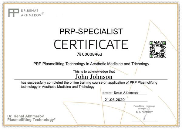 prp certificate
