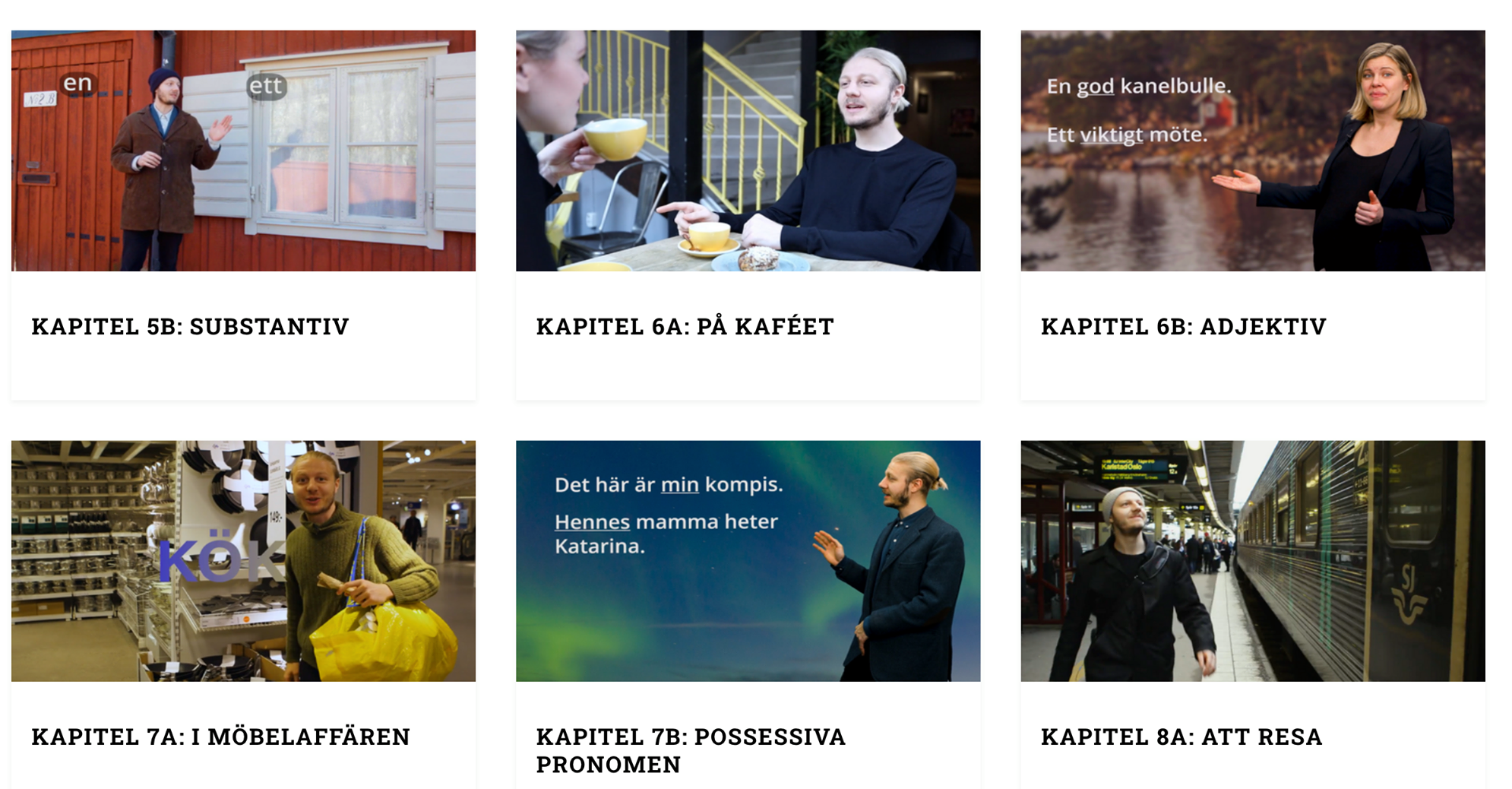 swedish lesson chapters