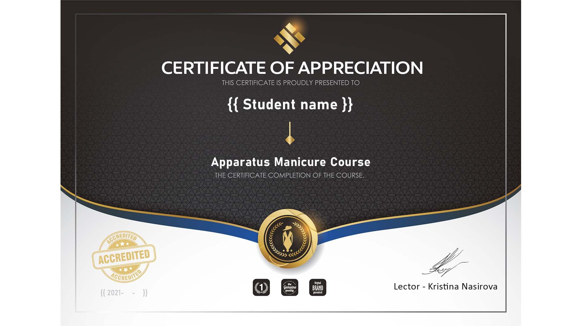 Manikiūro kursai sertifikatas