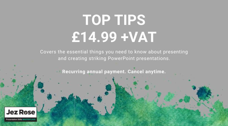Top Tips Course. £14.99+VAT