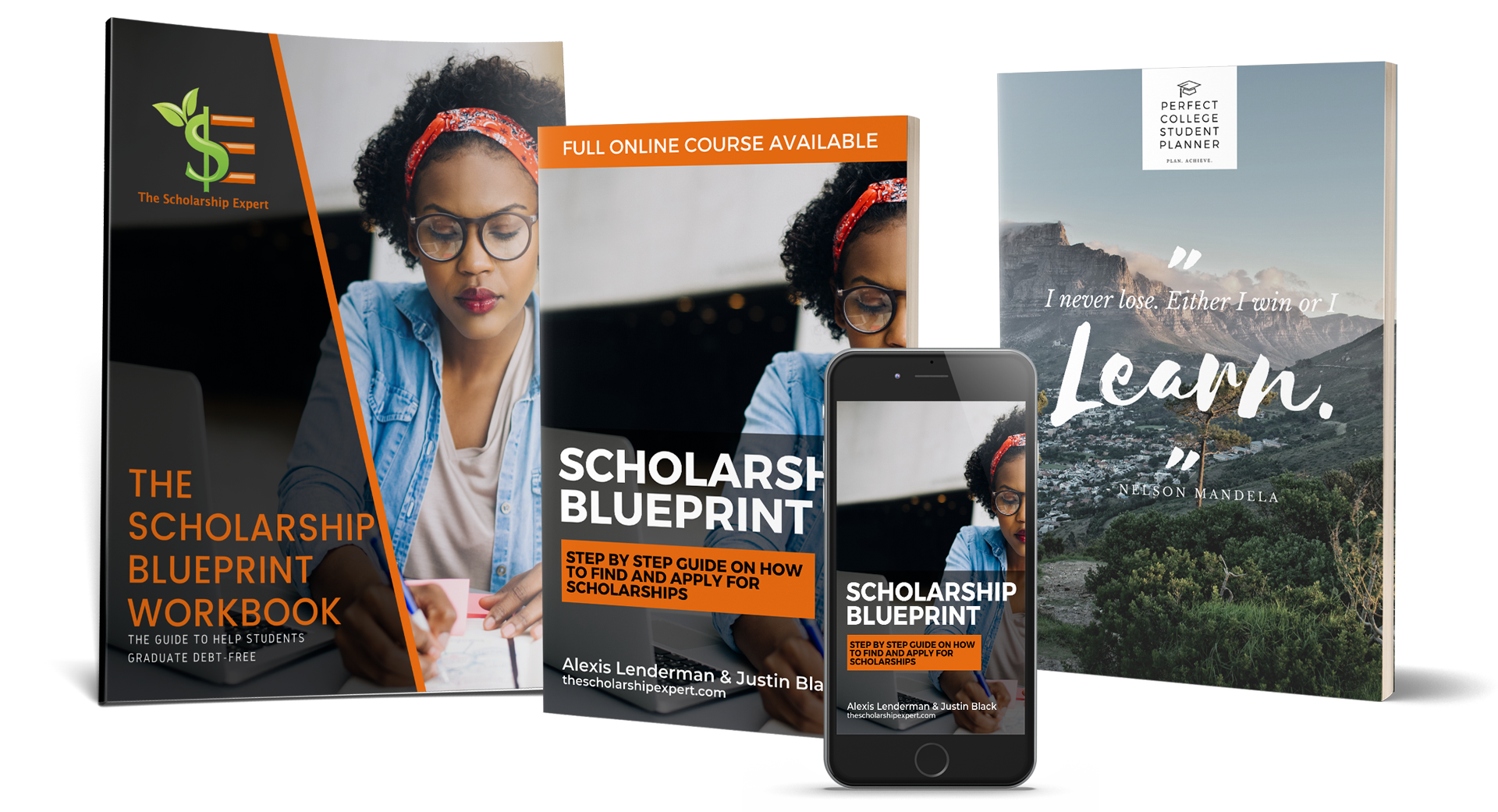 The Scholarship Blueprint Course, Print Book, & The Perfect College Student Planner