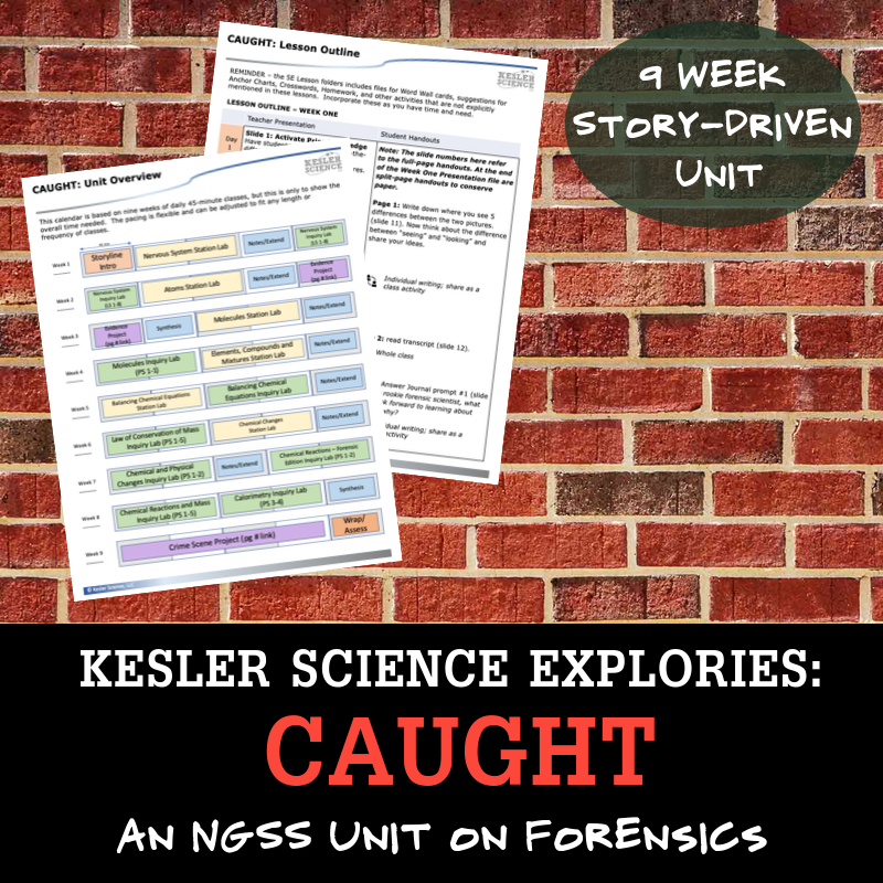 CAUGHT - an NGSS Unit on Forensics