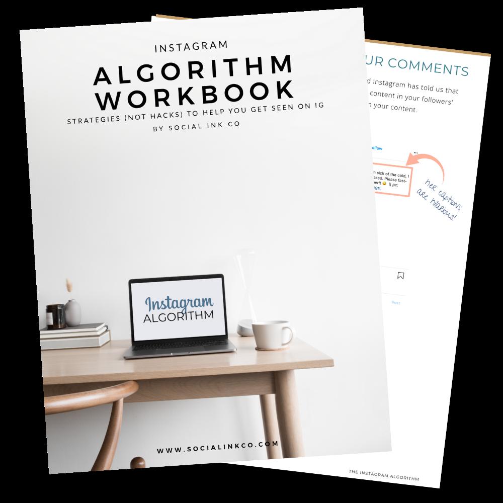 Instagram Algorithm Workbook Mockup
