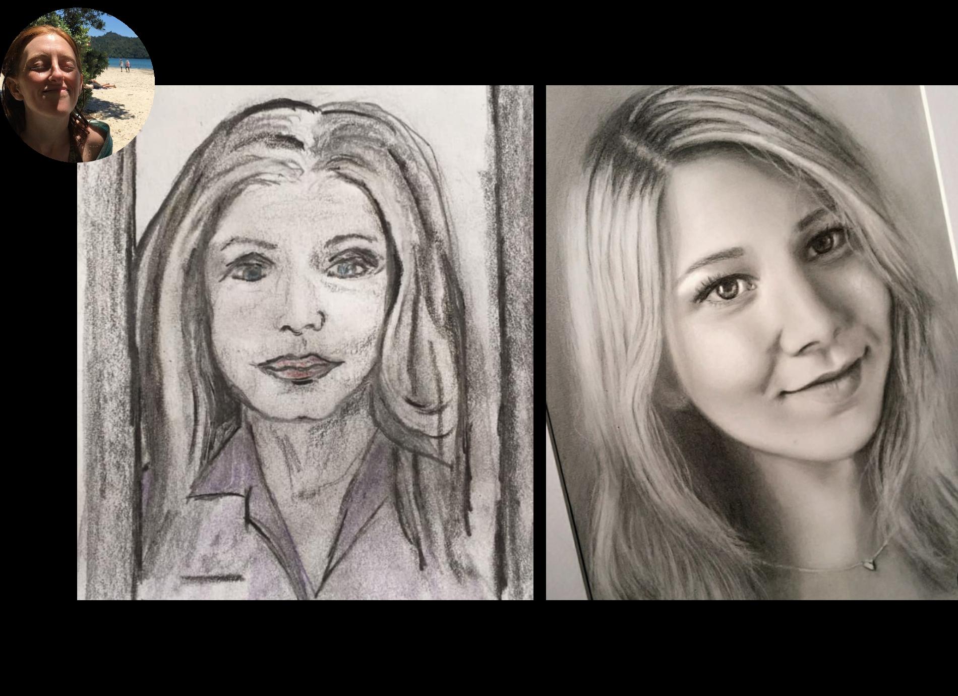 Ubung Portrait In Der Frontalansicht Zeichnen 6