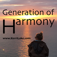 Sunset view over the Atlantic Ocean with Generation Of Harmony and a link to the generation of harmony website