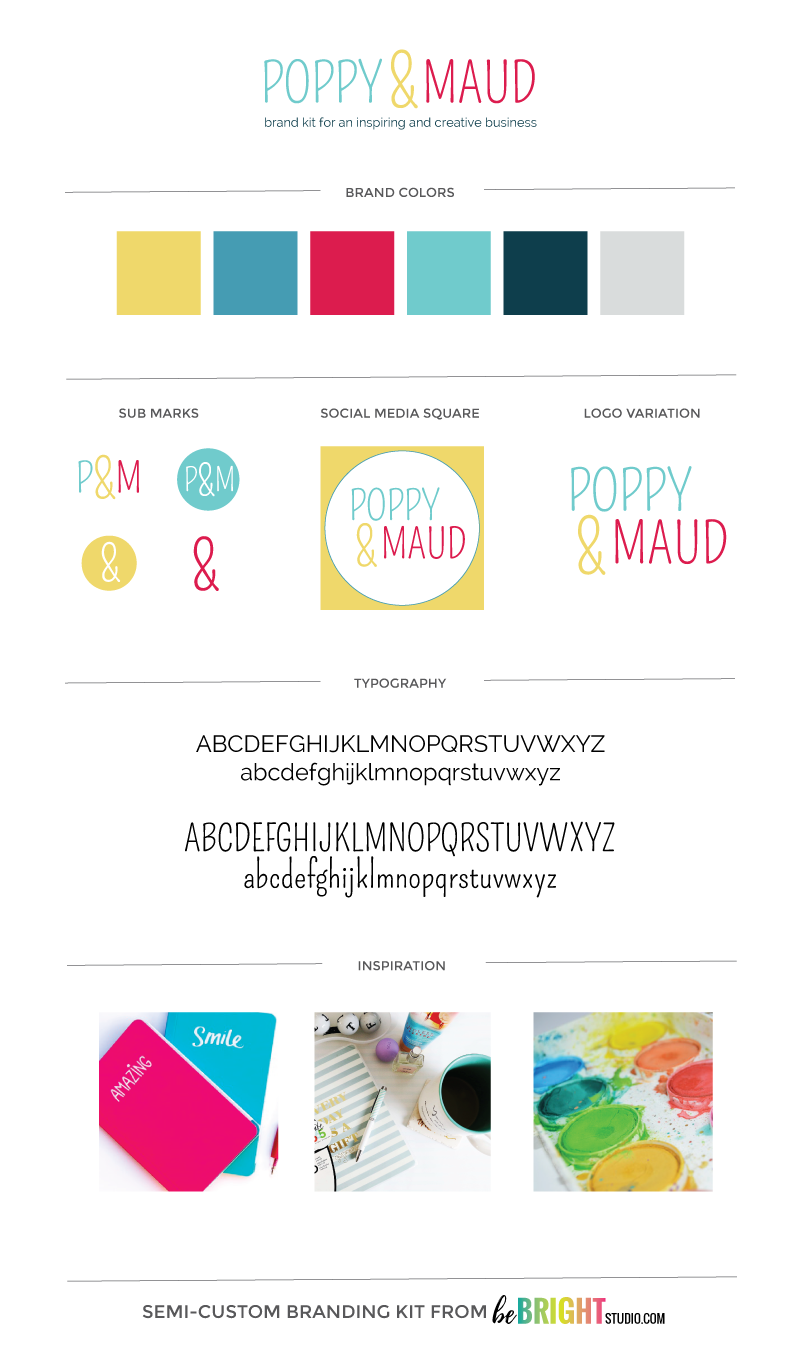 POPPY & MAUD SEMI-CUSTOM BRANDING KIT