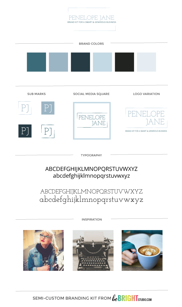 PENELOPE JANE SEMI-CUSTOM BRANDING KIT