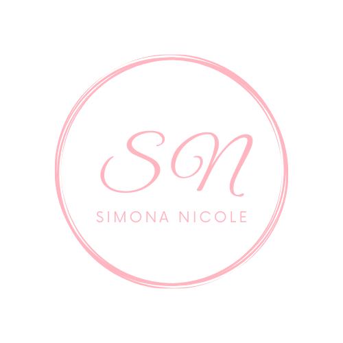 pink logo with name simona nicole