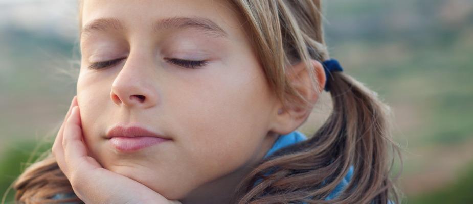 Young girl relaxing.