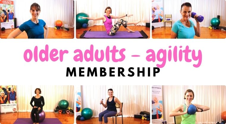 Home workout agility membership for older adults