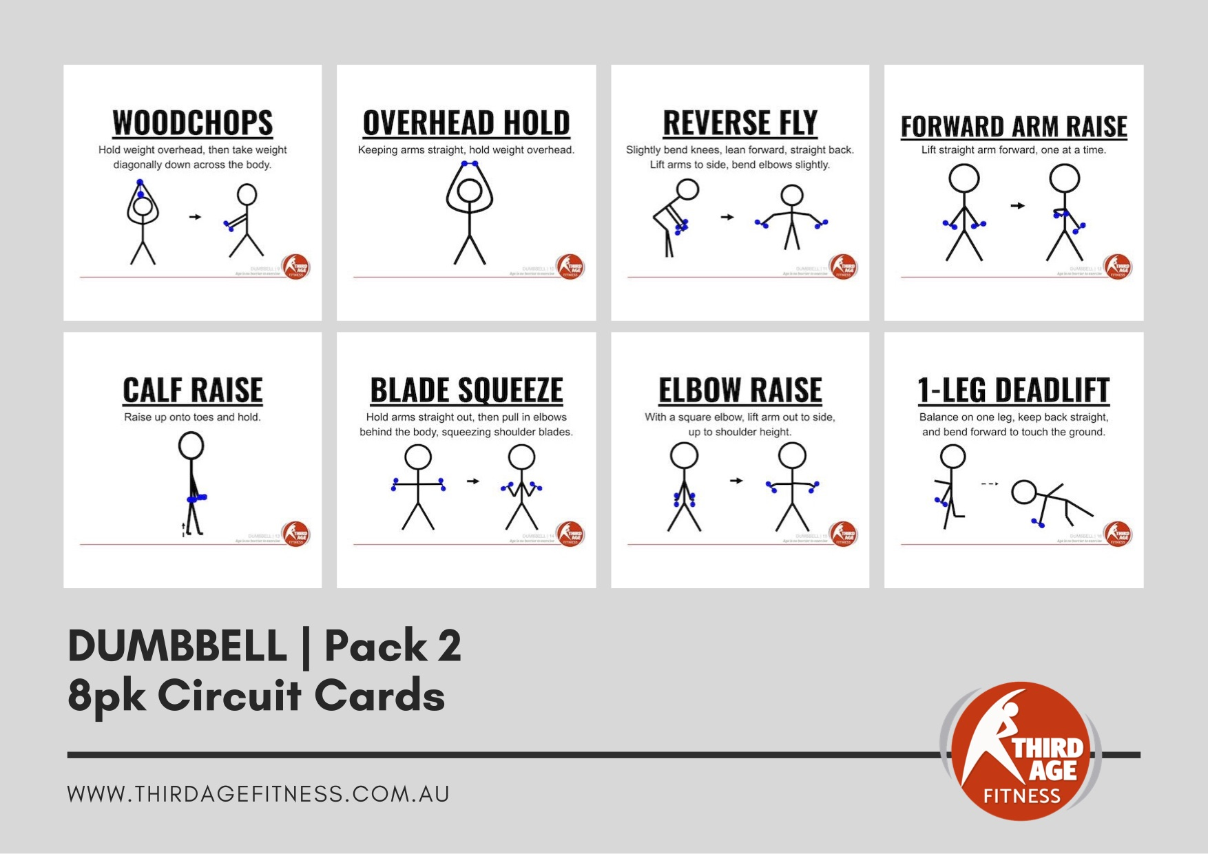 Circuit Cards - Dumbbells Pack 2