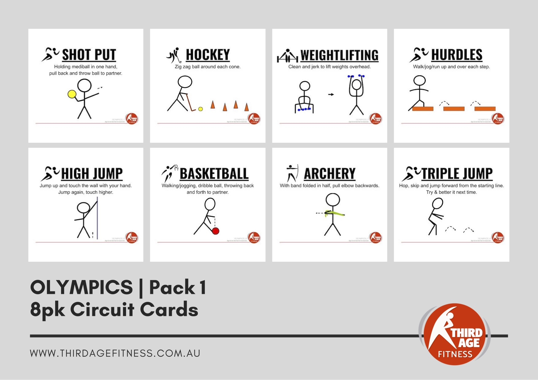 Circuit Cards - Olympics Pack 1