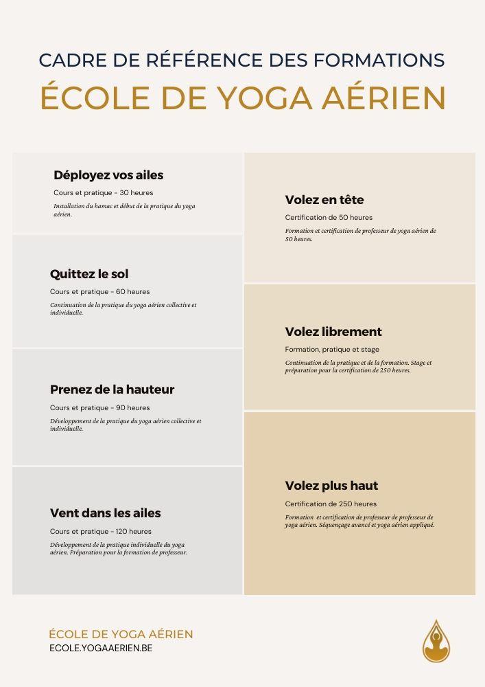 Cadre de référence des formations de l'école de yoga aérien
