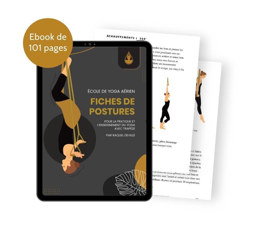 Fiches de postures - trapèze de yoga