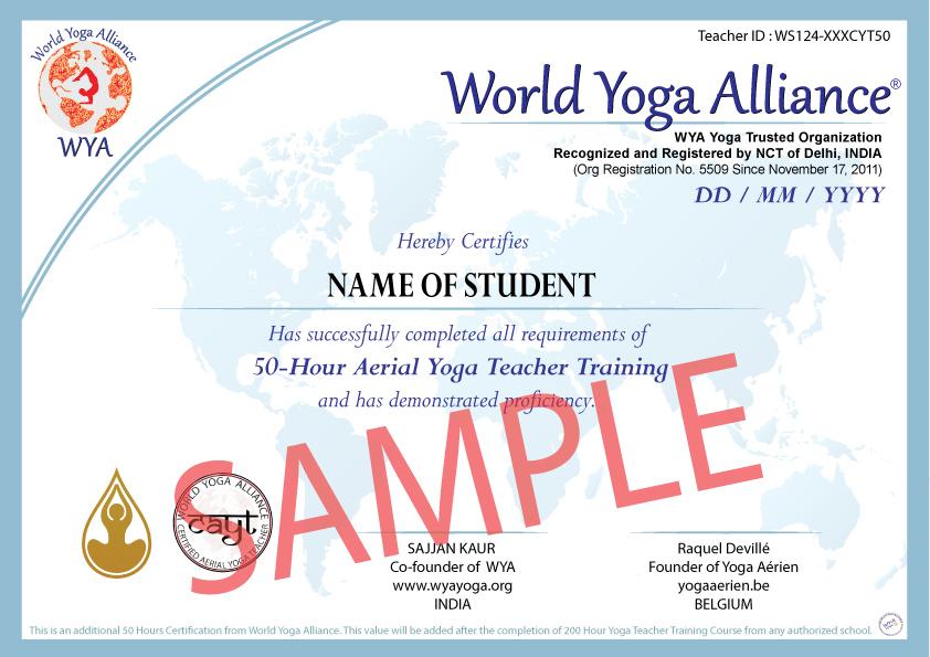 Raquel Devillé - école de yoga aérien