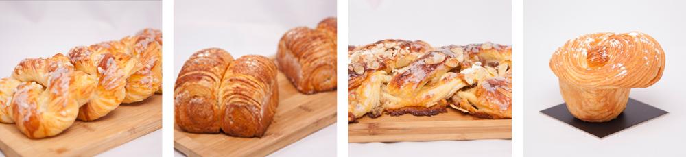 Preparaciones de bollería con masas de croissant y brioche