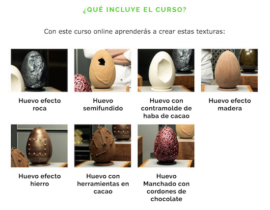 Figuras de chocolate Raúl Bernal