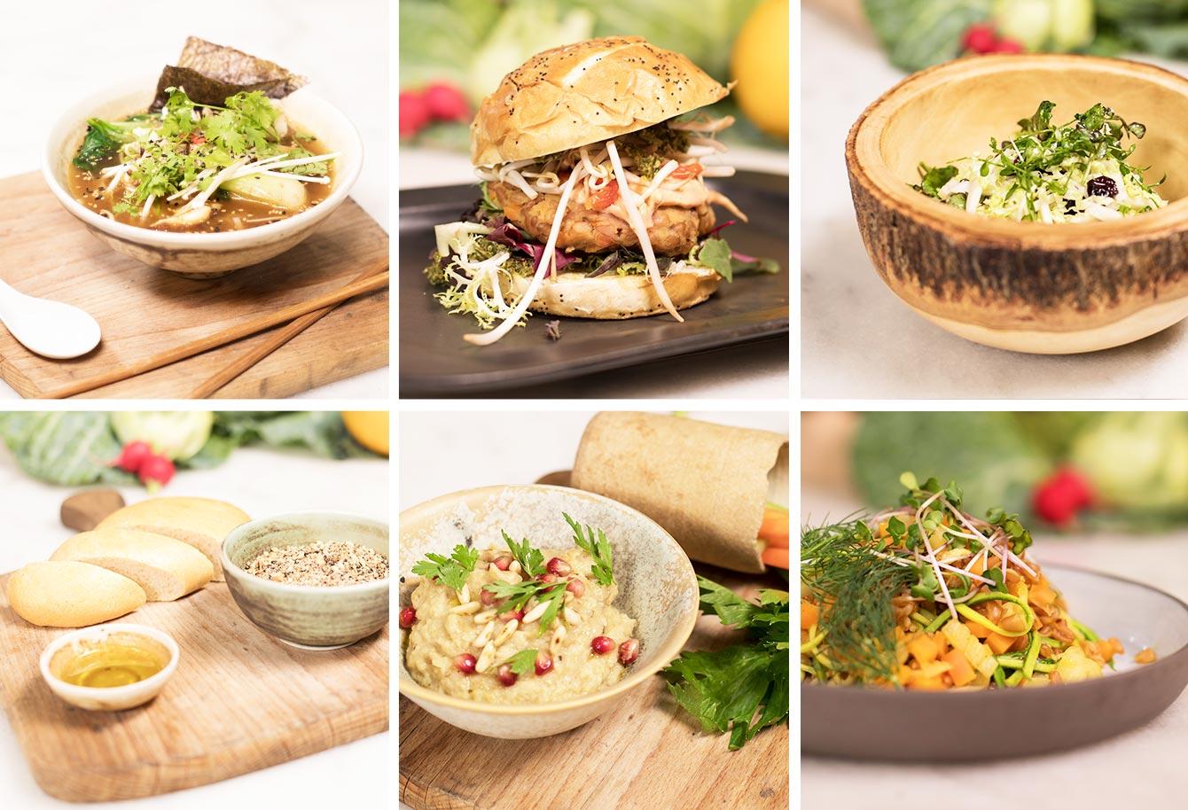 6 fotos de platos vegetarianos del curso