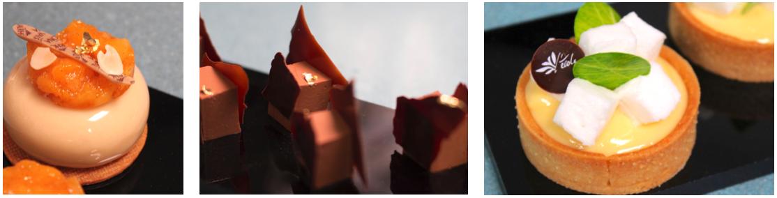 Postres realizados con chocolate