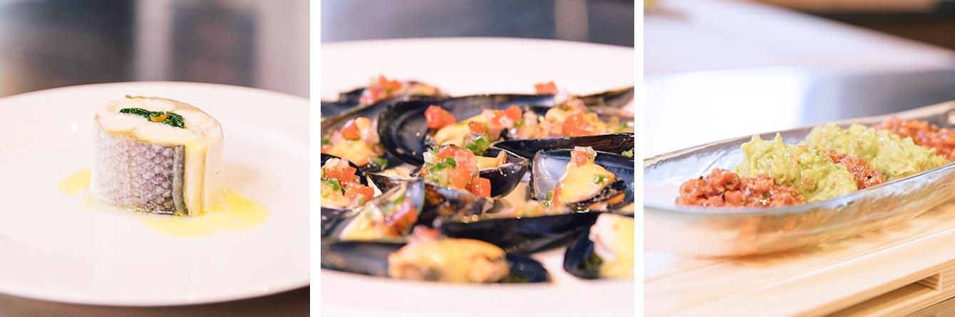 platos de Pescado cocinados al Vacío por Tony Botella