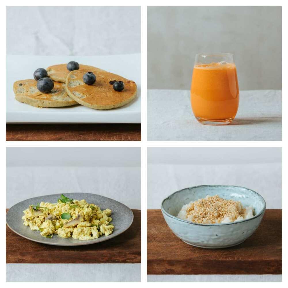 Desayuno vegano completo