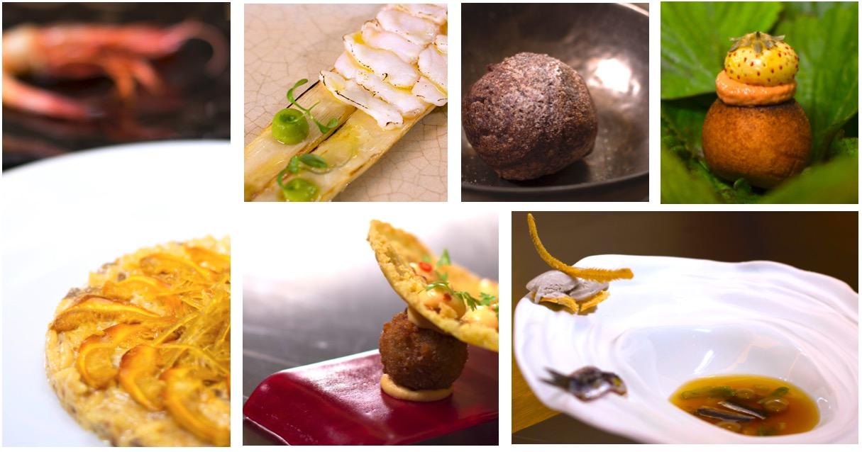 Platos del chef Aurelio Morales
