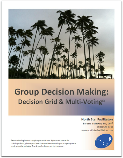 Decision making in groups can be a daunting task.