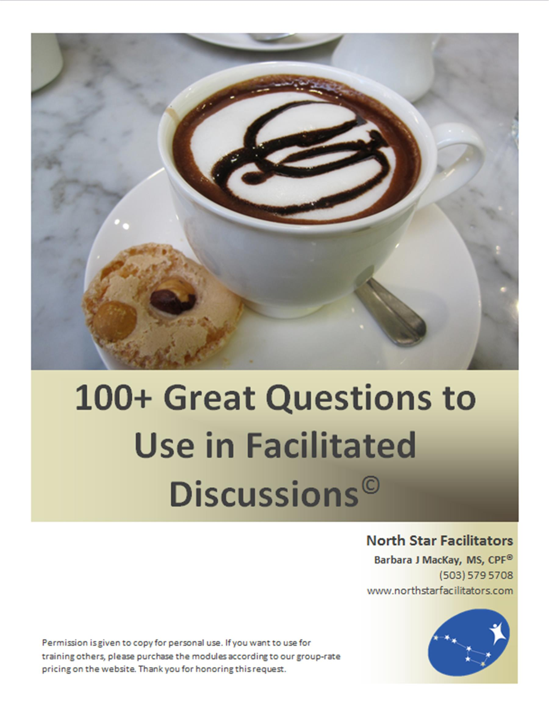 Need help in making more meaningful conversation or creating great facilitated group discussions?