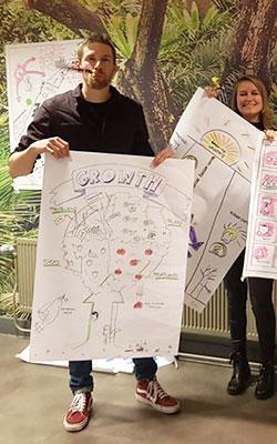 Flip chart storyboard and presentation