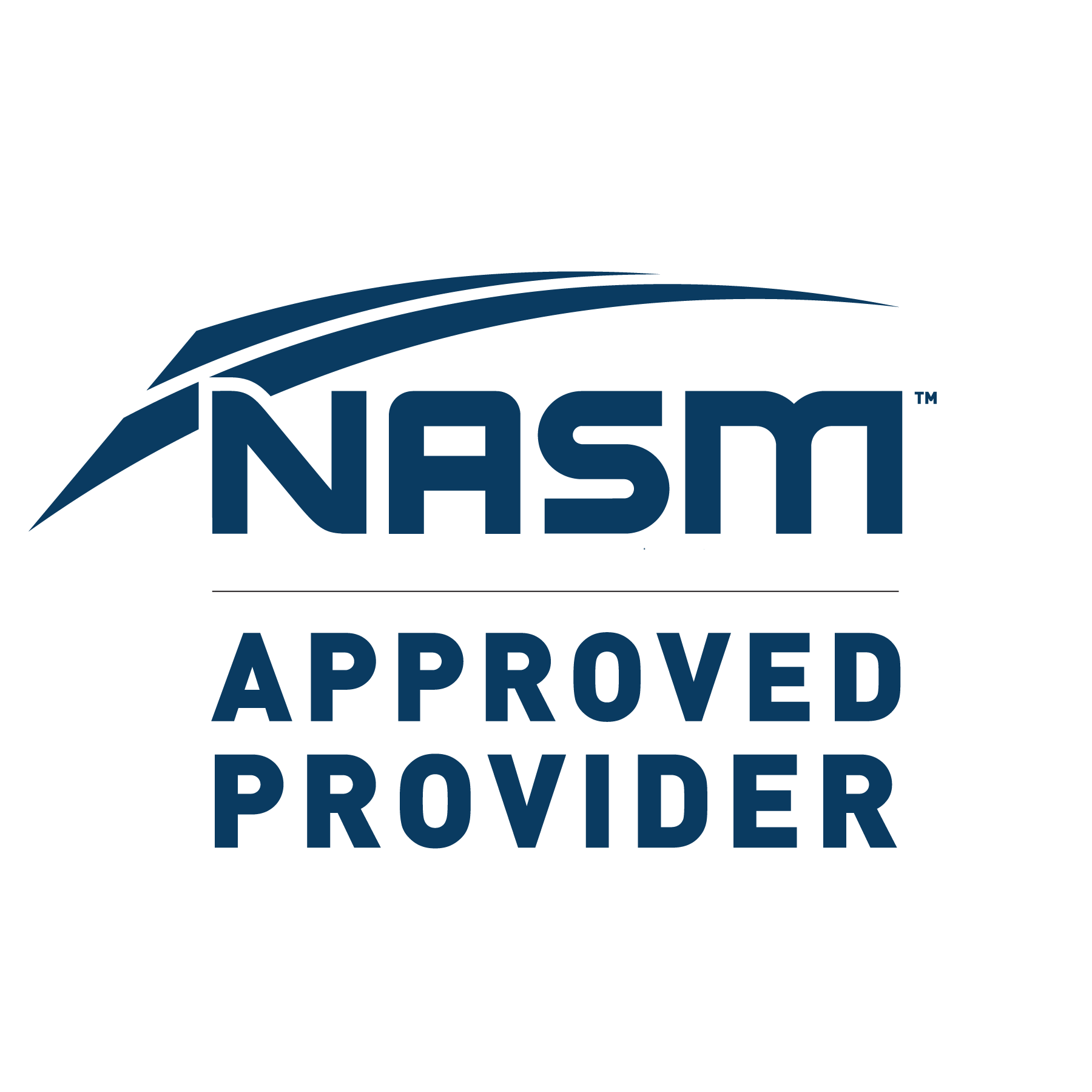 National Academy of Sports Medicine (NASM) approved provider