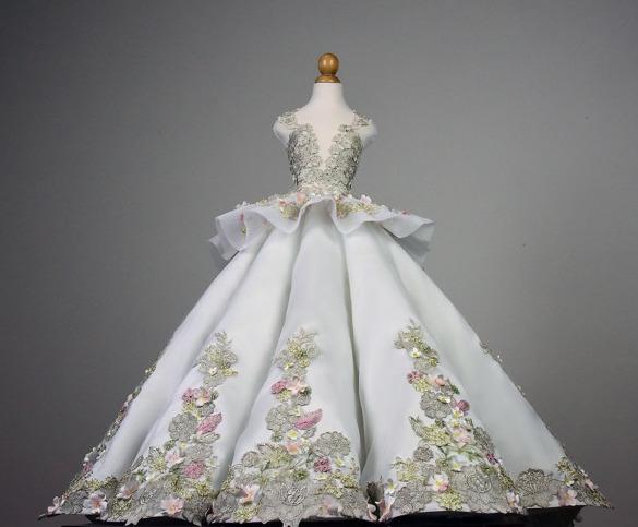 Umbrella Cut Ball Gown Skirt Sewing Wedding Dress