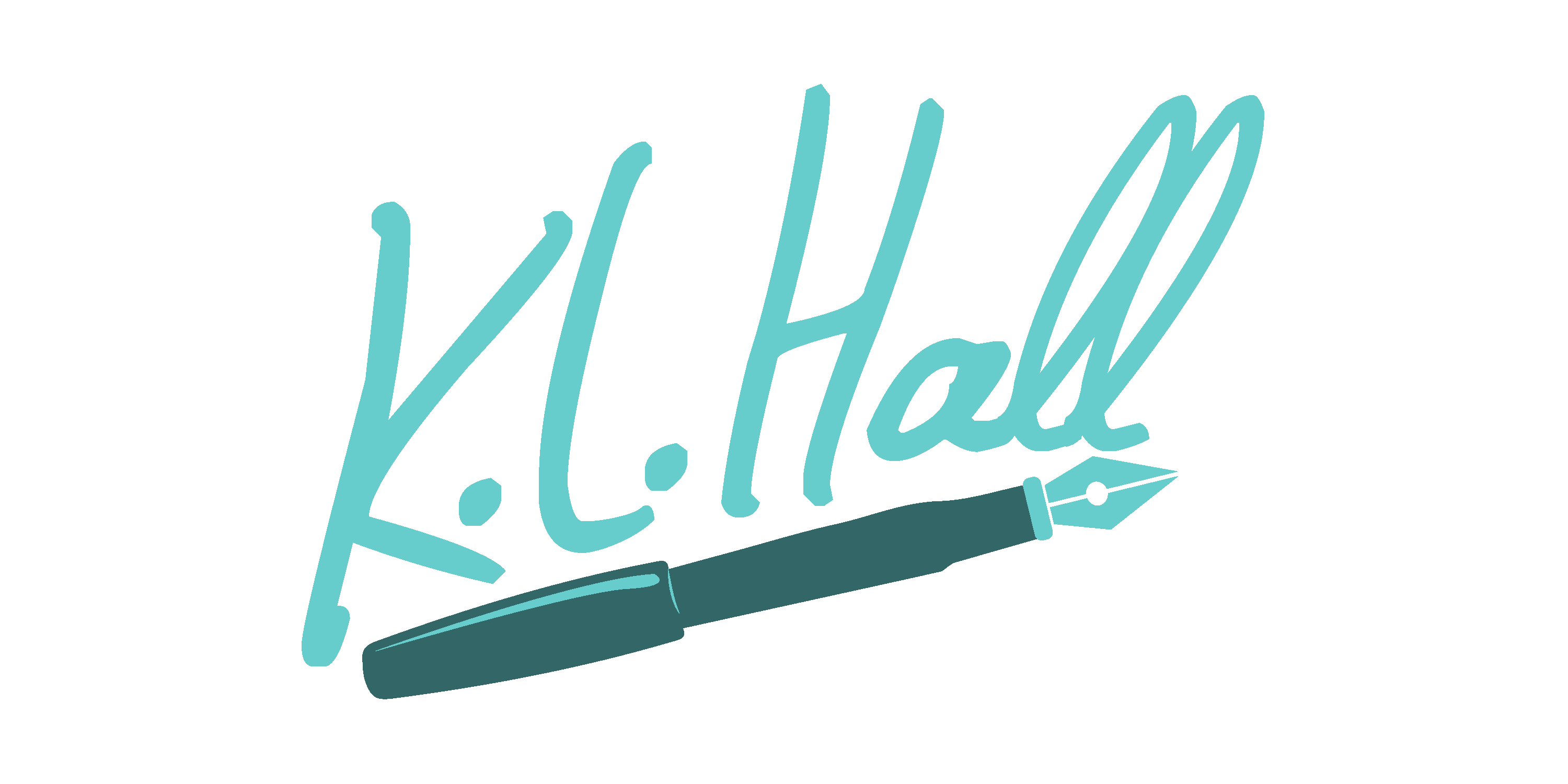 K.L. Hall Text Logo with Pen