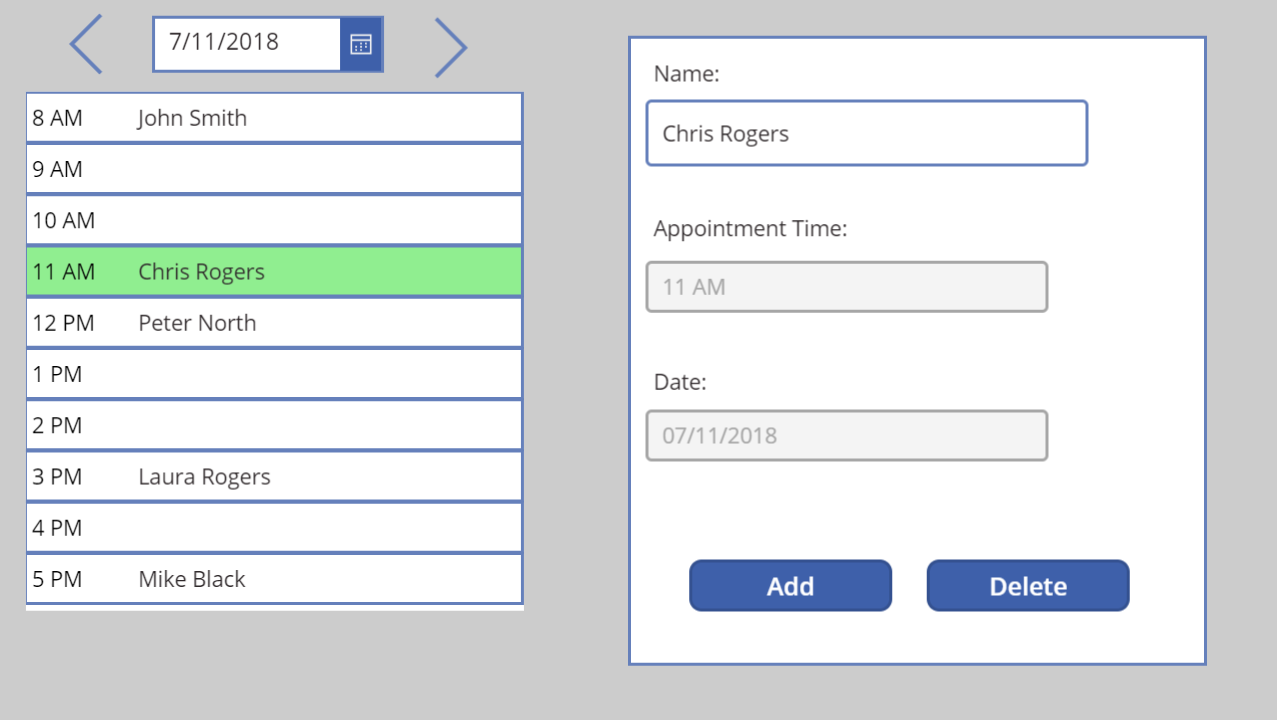 Visual Appointment Creator