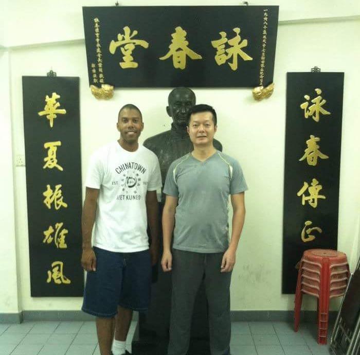 With Sifu John Wong Hung