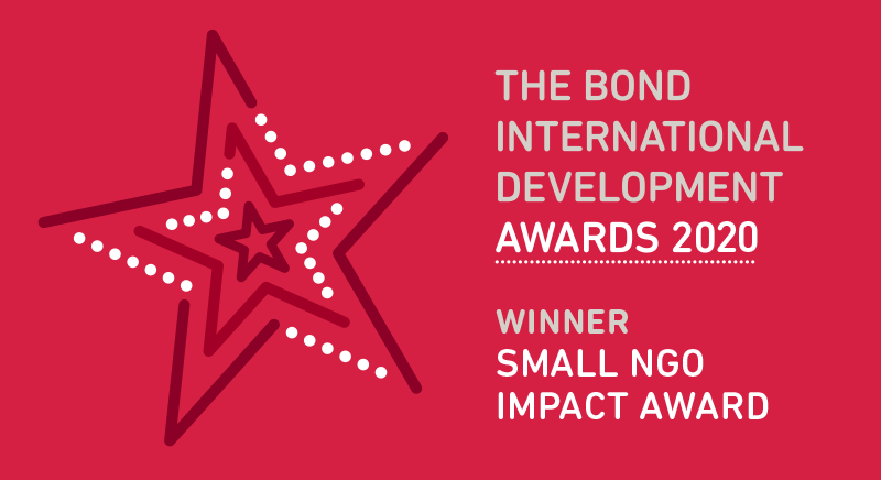 The Bond International Development Awards 2020 - Winner Small NGO Impact Award