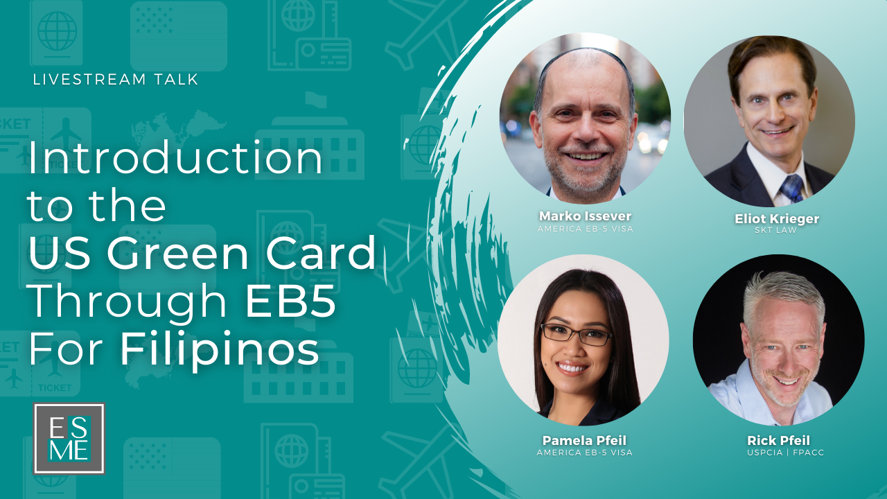 Introduction to US Green Card through EB5 for Filipinos