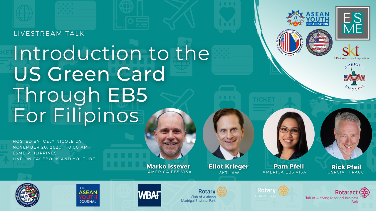 Introduction to US Green Card through EB5 for Filipino Nationals