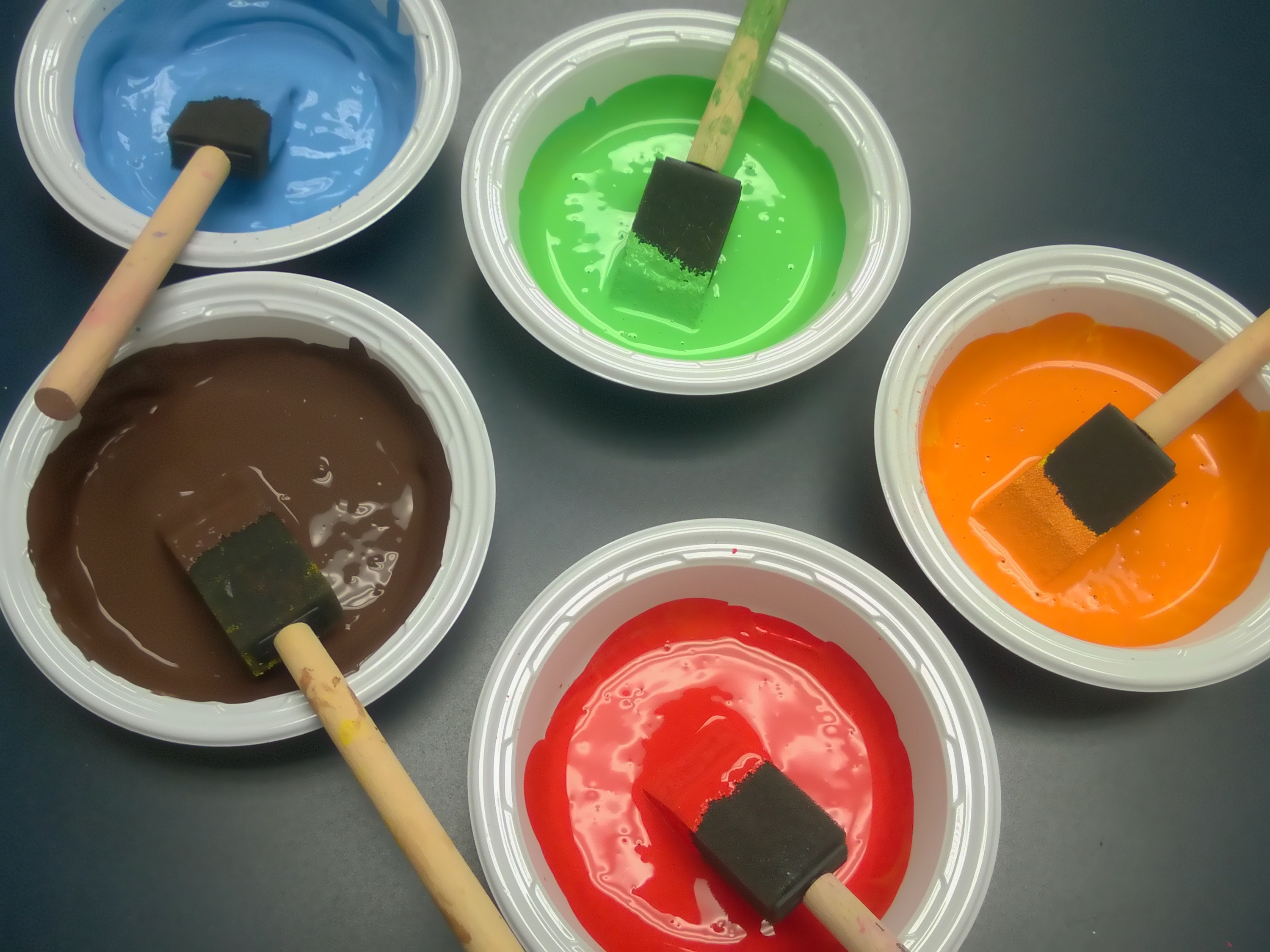 Paints in containers