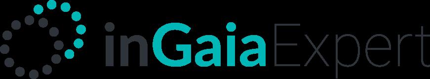 Dois círculos sobrepostos formados com pontos e a palavra inGaia na frente