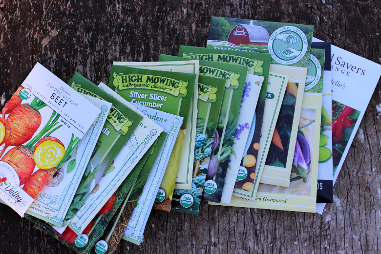 garden vegetable seed packets
