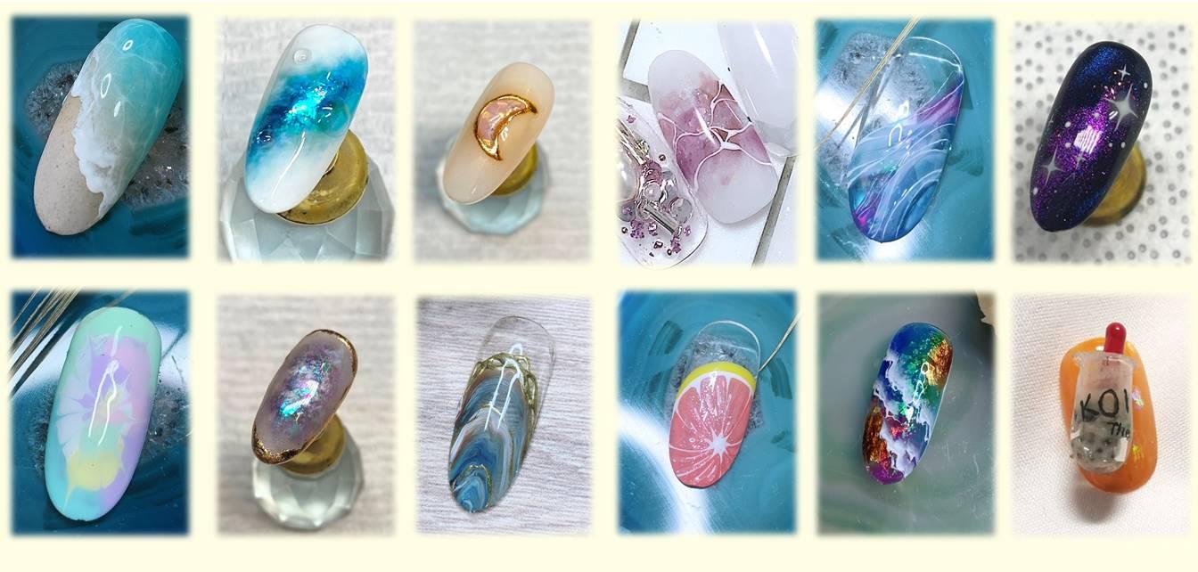 japanese nail art sample