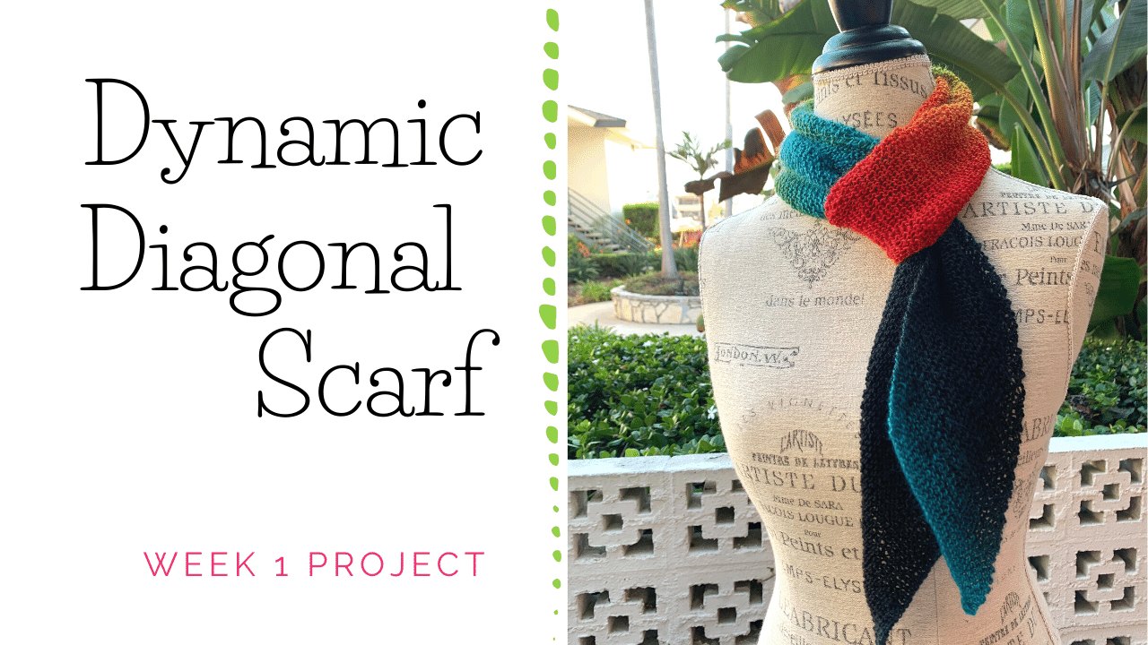 Dynamic Diagonal Scarf Knitting Project