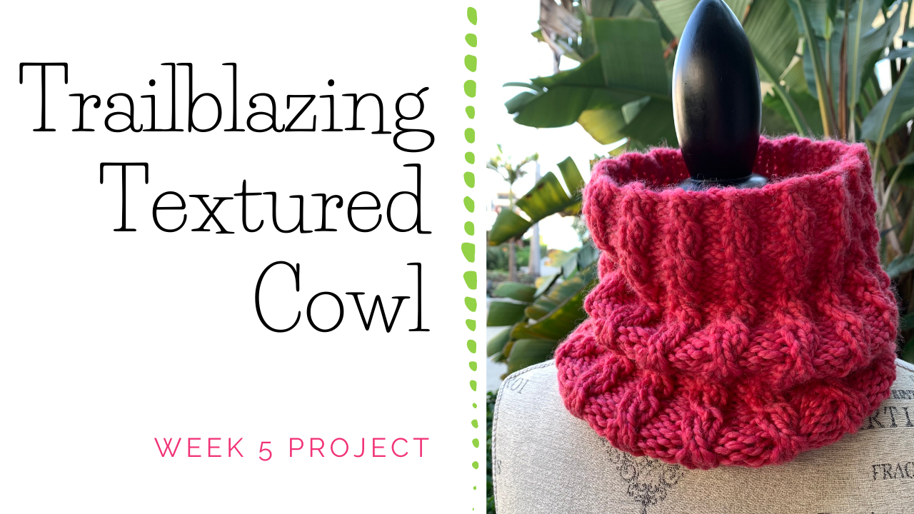 Trailblazing Textured Cowl Knitting Project