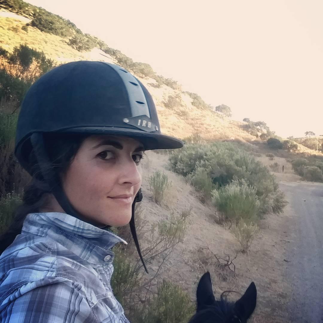 Alissa Mayer riding in the desert